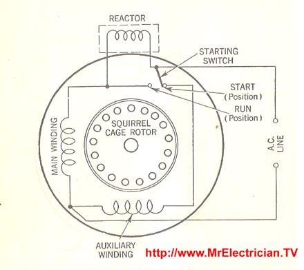 Reactor Start Split Phase Induction Motor